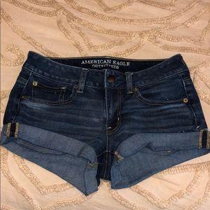 dark wash of american eagle  jean shorts